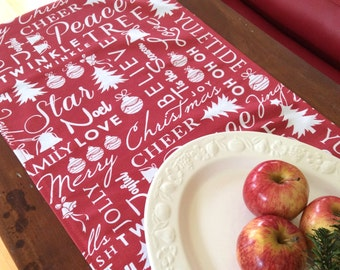 Christmas Table Runners, Modern On Trend,Subtle Red and Crisp White , Quality Hand Made!