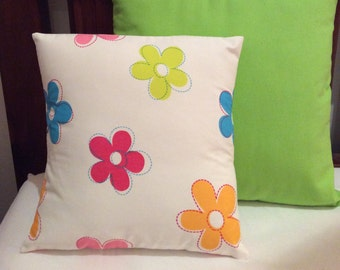 Girls Multi Colour Floral  Cushion Cover 34cm x 34cm