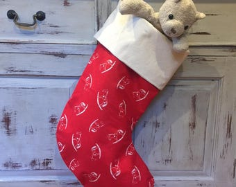 Christmas Stockings,Large Quality Padded and Lined, 55cm Long, Rocking Horse