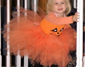 Pumpkin costume, Pumpkin Tutu, Jack O Lantern Tutu, Halloween tutu dress, Trick or Treat Costume, Haloween costume