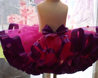 Valentine tutu, Holiday Tutu, Birthday Tutu, Christmas Tutu, Fancy Tutu, Fancy Nancy tutu, Rose bud tutu