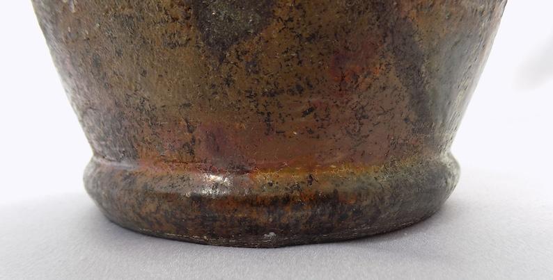 Old Vintage Handmade Signed Stoneware Art Pottery Vase
