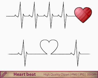Heartbeat Tattoo Etsy