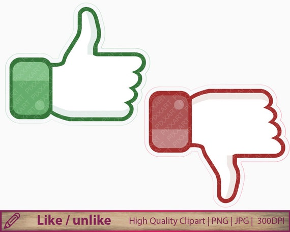 Like Unlike Clipart Thumb Up Down Clip Art Hand OK Sign