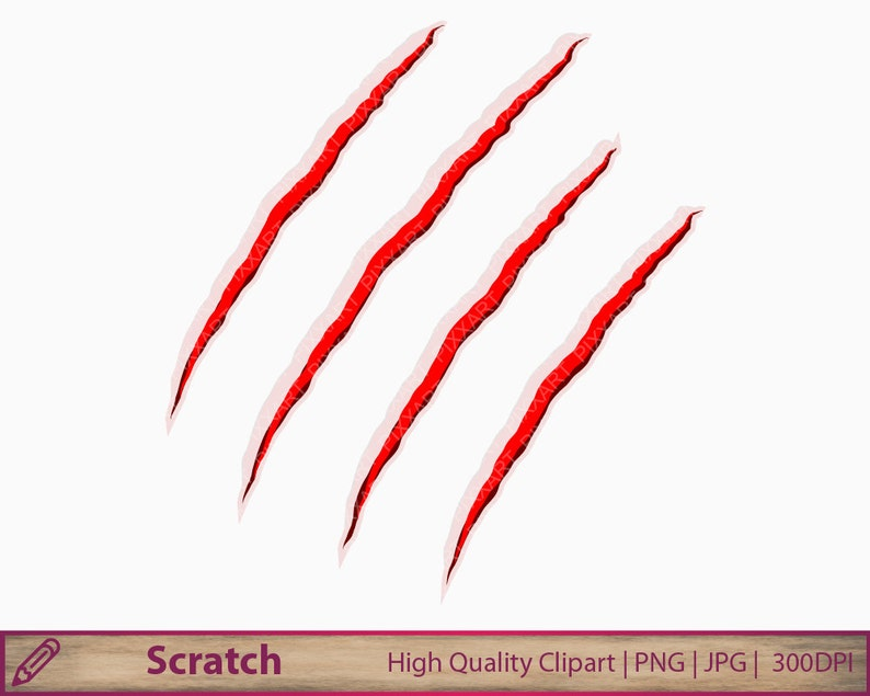 Scratch clipart, halloween clip art, blood horror scratch, scrapbooking,  commercial use, digital instant download, jpg png 300dpi