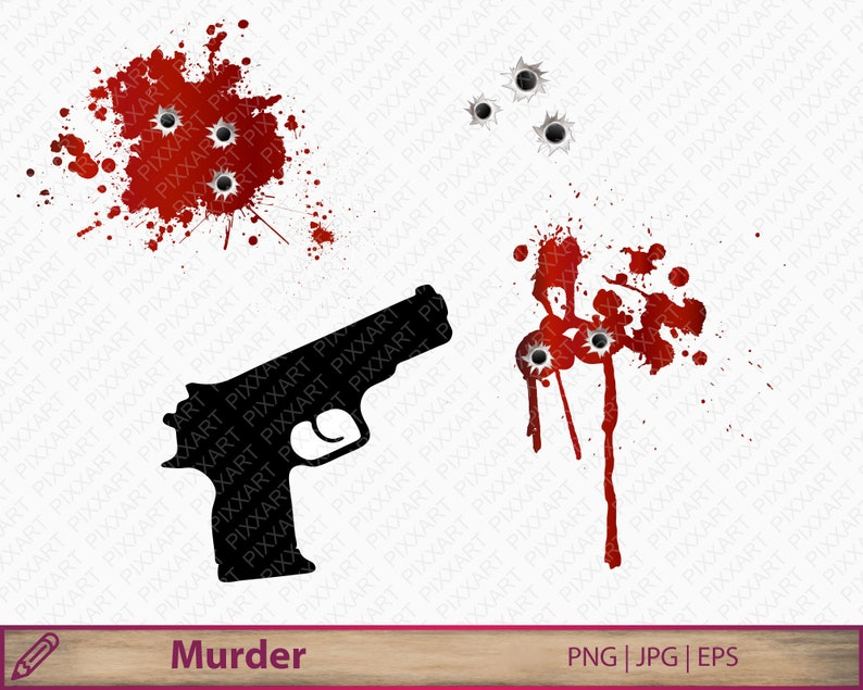 Blood Splatters Png Gun Silhouette Clipart Horror Murder Etsy Download this graphic design element for free and lossless data compresion is supported.click the download button on the right side and save the wallpaper. blood splatters png gun silhouette clipart horror murder bullet holes printable crime sublimation vector digital download