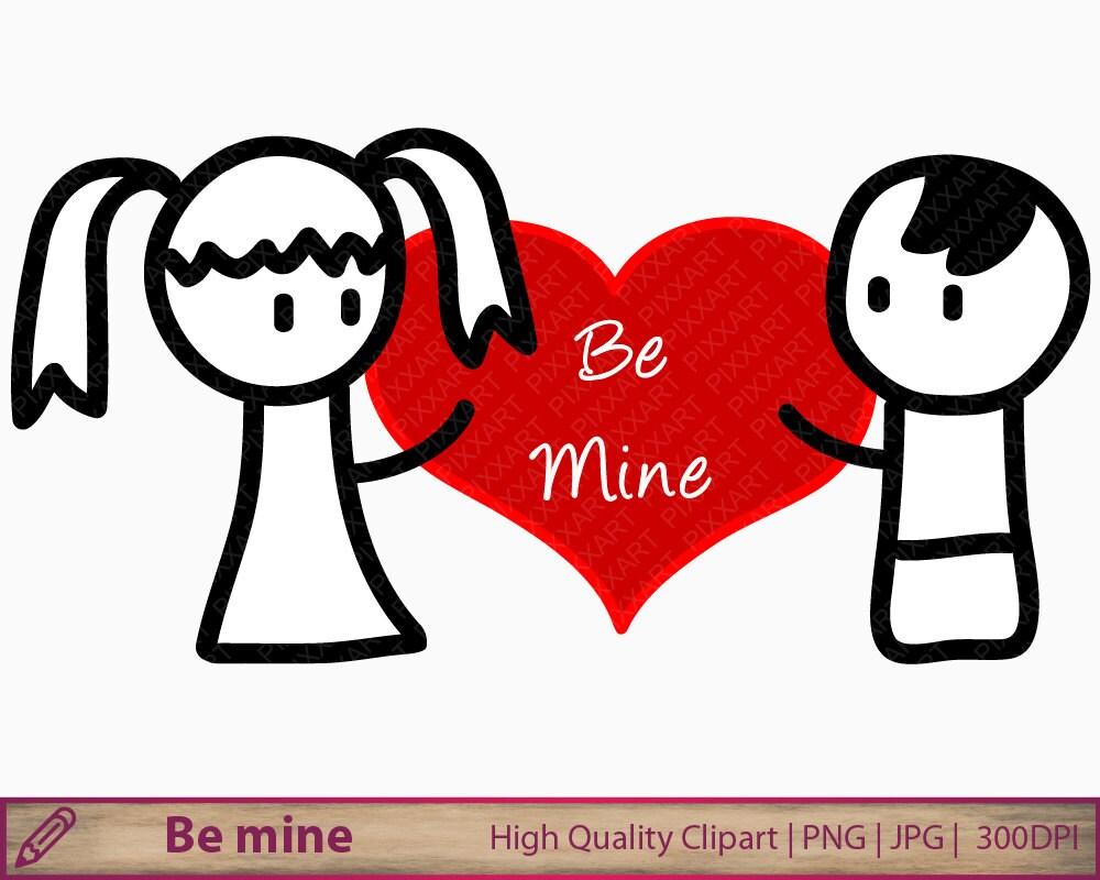 Love clipart wedding invitation clip art doodle man woman | Etsy