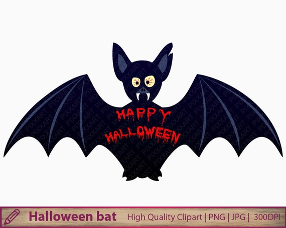 halloween bat clipart bloody bat monster clip art scary etsy rh etsy com Disney Halloween Clip Art Disney Halloween Clip Art