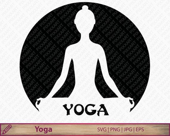 Yoga Svg Png Meditation Clipart Yoga Silhouette Printable Etsy