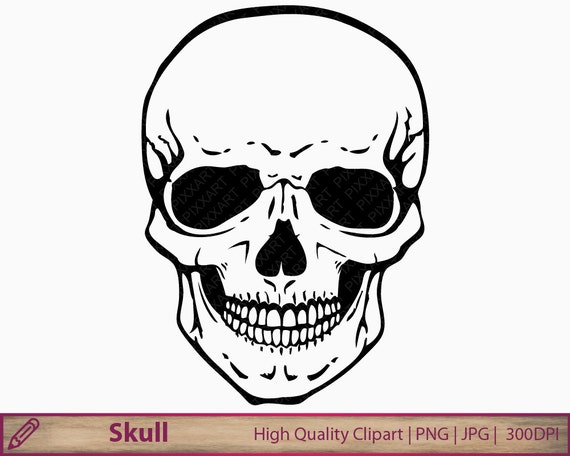 skull clipart human skull clip art horror halloween etsy rh etsy com skull clipart collection skull clipart collection