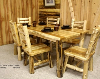 Log Dining Table Etsy