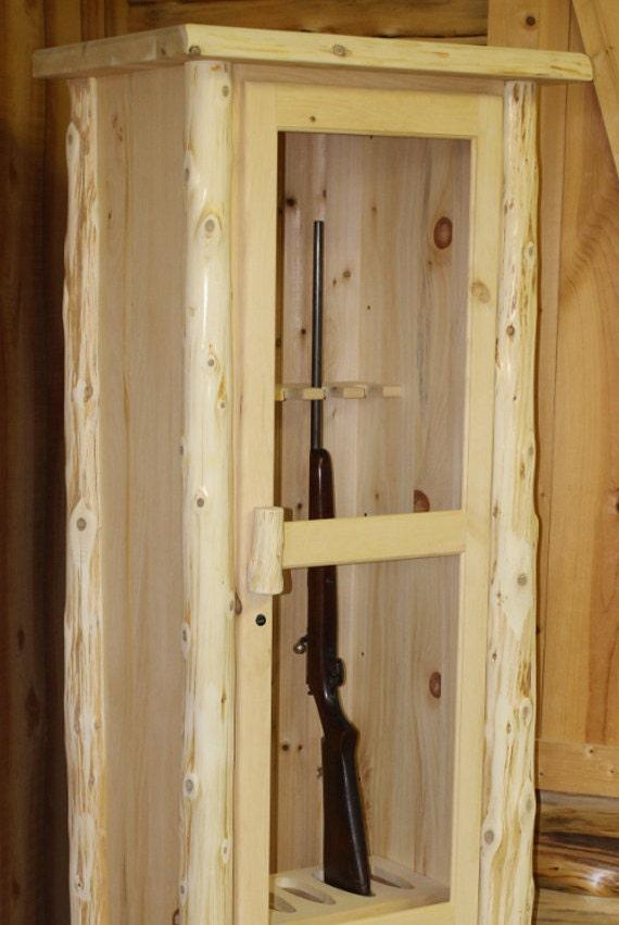 Charmant Rustic Log Gun Cabinet Solid Pine U0026 Cedar | Etsy