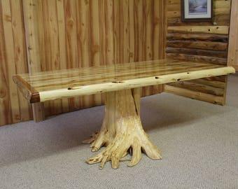 Solid Cedar Stump Table