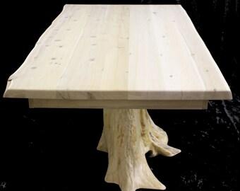 36 x 60 Cedar Stump Dining Table