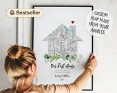 New Home gift, Housewarming Gift for couple, New House Map, First Home Gift idea, Our First Home, Personalized Realtor Gift, DOWNLOAD 41