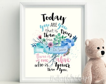 Dr Seuss Quote Art Etsy