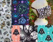 Licensed Sugar Skull Fabric Adult Fandom Handmade Reusable Cloth washable Face Mask adult Ties choice of Nosewire