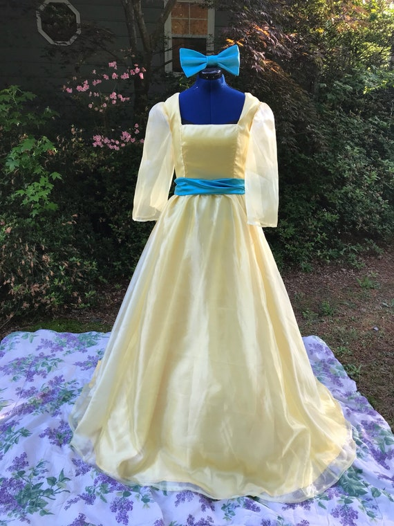 Adult Anastasia Inspired Yellow Ball Gown Once Upon a December   Etsy
