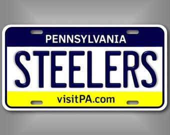 68161ea24ae Pittsburgh Pennsylvania Steelers AFC NFL Football Team Vanity License Plate  Tag