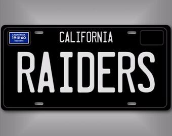 Oakland Raiders 1960 California NFL Football Team Aluminum Vanity License  Plate 3825662902