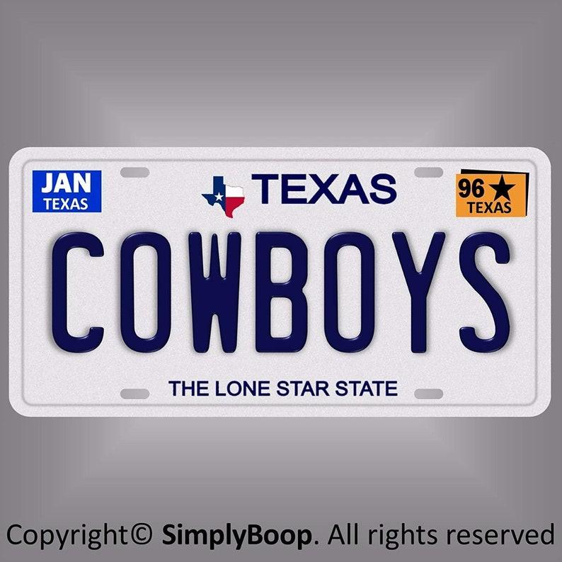 Dallas Cowboys Star Car Tag Black design Aluminum License Plate