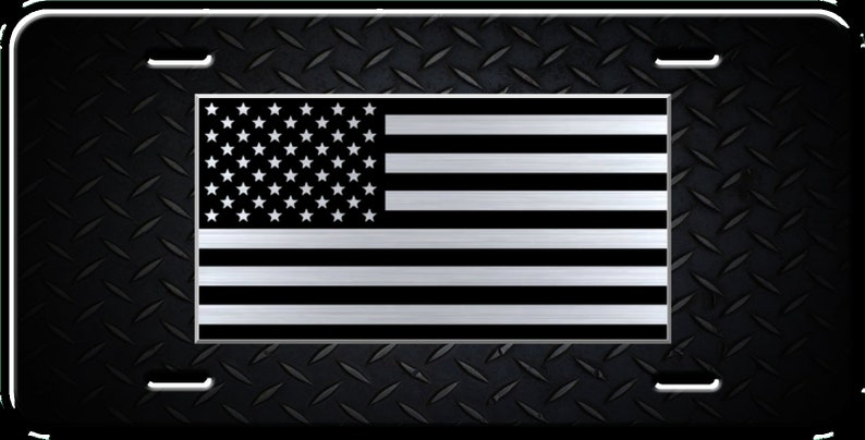 Tactical American Flag License Plate Patriotic USA Auto Tag US  f9d86d3feaf4