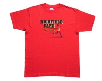 Vintage 80's Tee-Shirt Richfield Cafe Running Adidas