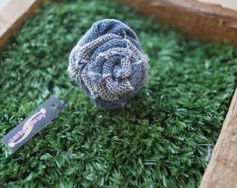 Denim flower ring