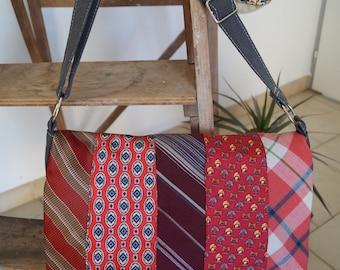 Handbag red tie