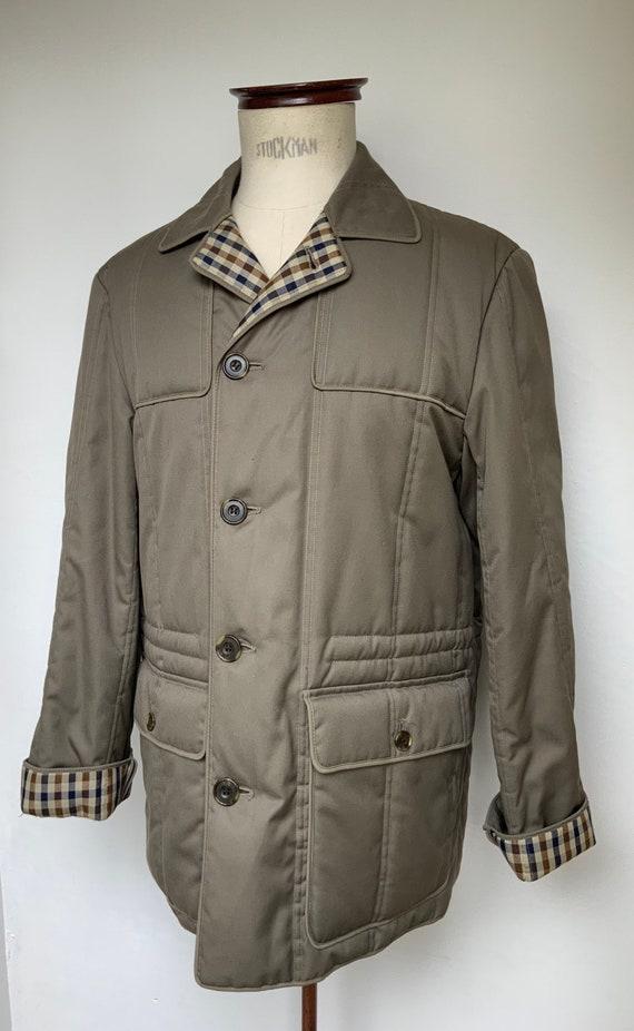 Aquascutum quilted cotton coat