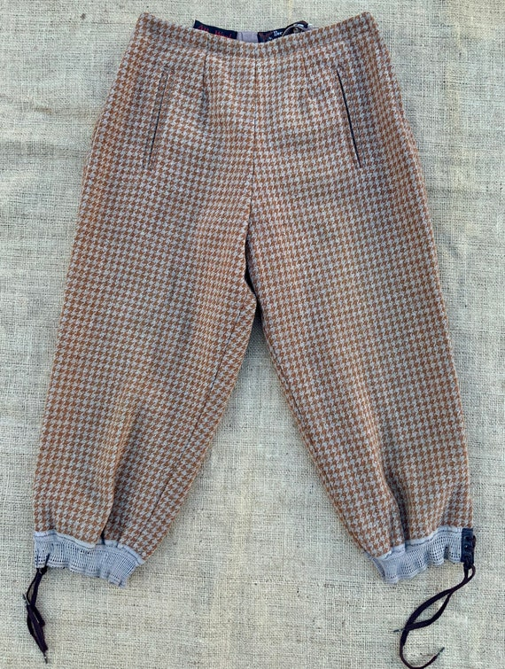 "Deer Stalker houndstooth tweed breeches 26"" waist"