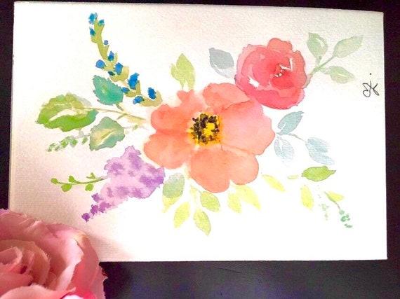 Watercolor Hand Painted Kurdish Bride Mini Original Painting