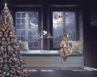 Christmas Background Images For Photoshop.Digital Backdrop Etsy