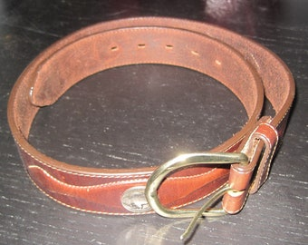 Buckle Buffalo Leather Belt AUSTRALIAN MADE RRP 49.99