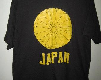 1d9d41f3 Vintage JAPAN Imperial CHRYSANTHEMUM Seal Punk Shirt Sz L