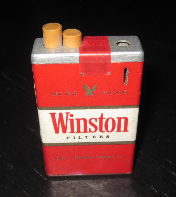 Vintage WINSTON FILTERS Cigarette Pack Advertising Premium RJ Reynolds  Lighter
