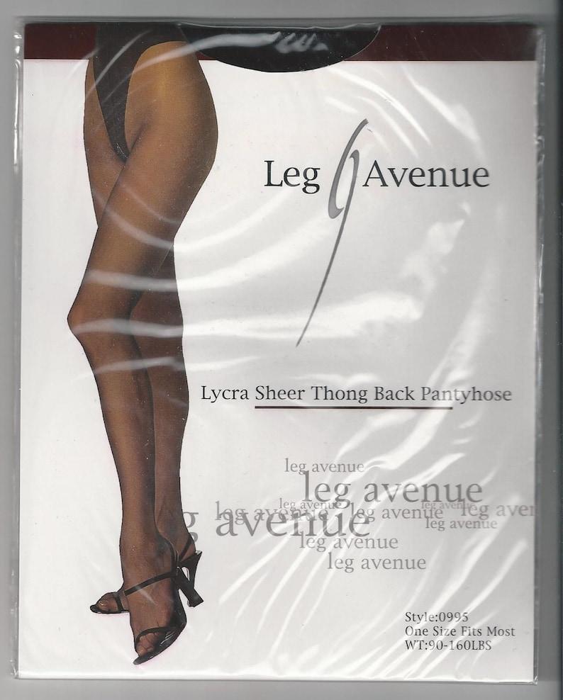 dac822c58 LEG AVENUE Lycra Sheer Thong Back PANTYHOSE O S