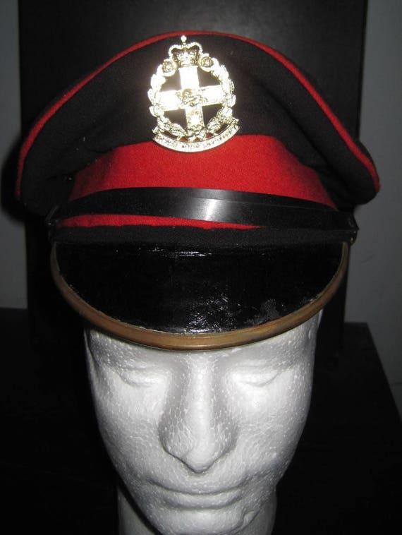 ROYAL ANGLIAN REGIMENT CAP BADGE PRINTED ON A BEANIE HAT CAP.