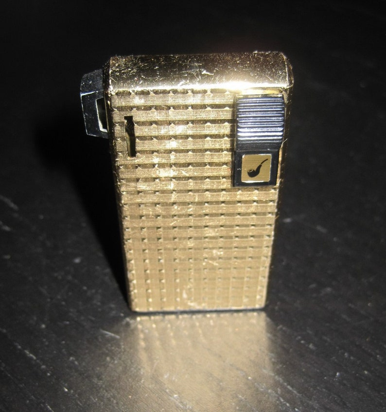 Vintage B&L BROTHER LITE Pipe Gold Tone Lighter