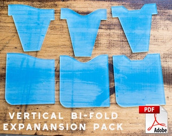 Leather Vertical 6 Pocket Wallet Expansion Pack PDF Digital Template (8.5 x 11)