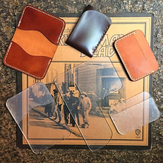 bundle leather minimalist wallet template folded card etsy