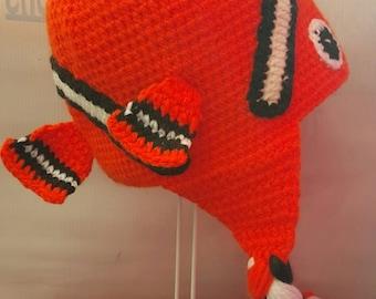 Hand-crochet Finding Nemo Beanie