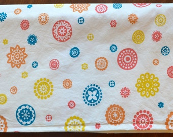 Organic cotton and flannel Ipanema Astrid Floral blanket for baby and child; 32x35