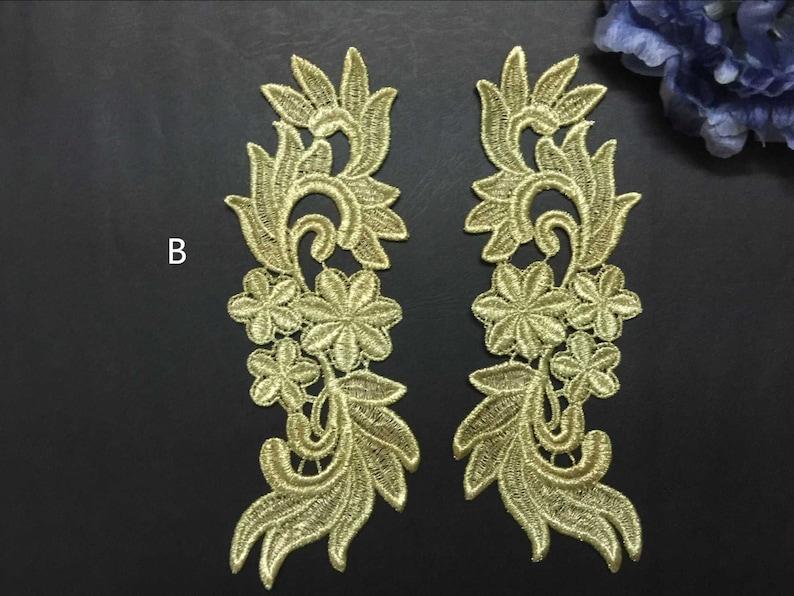 Retro oro pizzo applique barocco pizzo applique indumento etsy