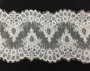 Exquisite French Chantilly lace eyelashes corded lace veil lace eyelash lace 3 meters per pc