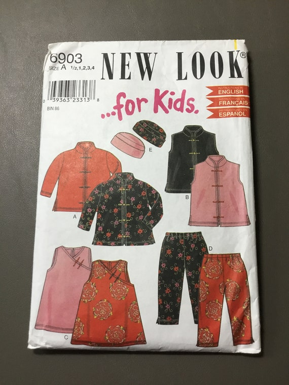 6903 Simplicity Toddlers Top Jacket Vest Pants And Hat Sewing Pattern P362