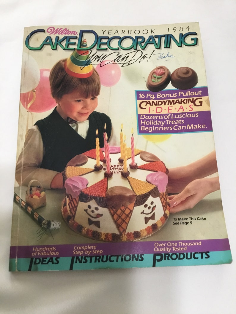 Vintage Wilton Cake Decorating Yearbook 1984 B30 Etsy