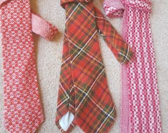 Handwoven woollen ties