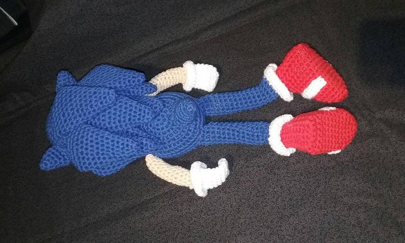 Sonic Inspired Crocheted PlushToyStuffed Animal