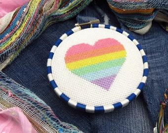 Easy Cross Stitch Pattern Simple Cross Stitch Rainbow Cross